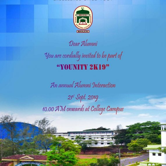 ANNUAL ALUMNI MEET – YoUnity 2K19
